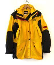 VTG 90 THE NORTH FACE Extreme Yellow Black Rain Jacket Coat Men Women's 8 M (i9)