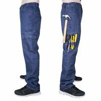 Men Jeans Denim Pant Casual Cargo Combat Work Pants Tactical Trousers 6 Pockets