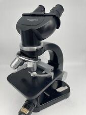 Vintage 1960s Ernst Leitz Wetzlar Binocular Microscope Four Objectives Free Ship