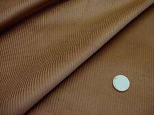 Tissu velours à côtes moyennes marron muscade  50 cms * 150 cms NEUF
