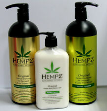 Hempz Original Shampoo Conditioner for Damaged Hair 33.8 Liter Set plus LOTION
