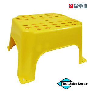 Plasterers - Hop Up, Step Up, Safe Step, Work Platform, Yellow Step Stool
