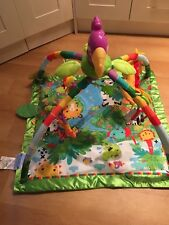 Baby Fisher Price Jungle Rainforest Activity Play Arch / Gym Mate Experience Mat
