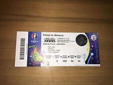 Sammler Used Ticket #1 Frankreich Rumänien France Romania 10.06.16 Unfolded MINT