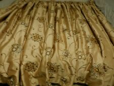 Pair of stunning pure silk wool interlined pale gold curtains 65in L x 130in W