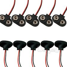 10x MN1604 9V 9volt Battery Holder Buckle Clip Snap Connector Cable Lead Black