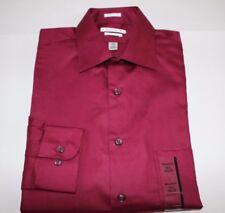 NWT VAN HEUSEN 15.5 32/33 Men's Cabernet REGULAR FIT LUX SATEEN Dress Shirt