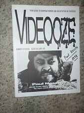 Paul Naschy VIDEOOOZE 1994 MAGAZINE Autographed by NASCHY! EX COND Horror Gore