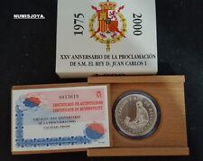 Año 2000. 2.000 Pesetas Plata. Peso 27 gr. XXV ANIVERSARIO DE LA PROCLAMACIÓN.