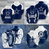 US Dallas Cowboys Hoodie Football Hooded Sweatshirt Men's Casual Jacket Pullover