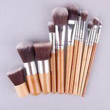 Prof Brosse Trousse Pinceaux de maquillage cosmetique Brun Lot de 11 pcs