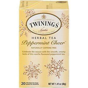 Twinings Peppermint Cheer Tea, 20 Bags (1 Pack)