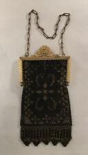 New listing Antique Mandalian Art Deco Mesh Black And Gold Flapper Purse