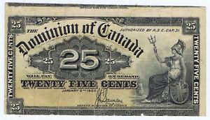 P# 9c CANADA 25¢ MISCUT ERROR of 1900 SEATED BRITANNIA
