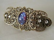 Dragons Breath Fire Opal Barrette, goddess wiccan pagan wicca witch witchcraft