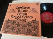 """New listing A BROADCAST TRIBUTE TO BRITISH STAGE & SCREEN [NM+ 12"""" vinyl LP record] antique"""