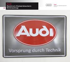 """Blechschild Audi Logo """"Pflaume"""", Audi Tradition Schild, Klasissches Logo"""