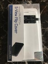 Genuine Samsung Galaxy S4 S-View Flip Cover (White) OEM
