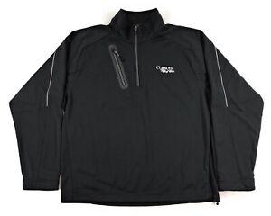 Zero Restriction Tour Series 1/4 Zip Golf Pullover Shirt Mens Medium Black