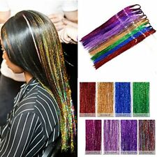 7Packs Holographic Sparkle Hair Tinsel Extensions Glitter Extensions Highlights