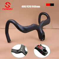 TOSEEK Handlebar 400/420/440mm Racing Bar Full Carbon Fiber Road Bike Drop Bar