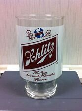 SCHLITZ - BEER THAT MADE MILWAUKEE FAMOUS LOGO - 30 oz BEER GLASS  - 4 AVAILABLE