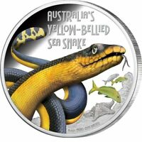 Tuvalu 2013 1 oz Proof Silver Yellow Bellied Sea Snake PCGS PR70DCAM