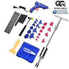 36Pcs Auto Body Tools T-bar Glue Gun Kit Paintless Dent Repair Hail Removal Tool