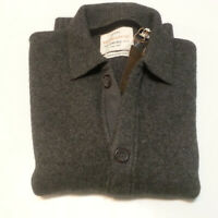 Weatherproof Men Size S Cardigan Sweater Himalayan Yak Gray $235 NWT
