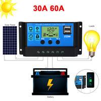 MPPT Solar Panel Regulator Charge Controller Auto Focus Tracking 12V-24V 30-100A
