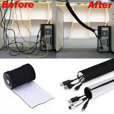 80 inch Cable Management Organizer Tv Cord Cover Raceway Hiding Wire Sleeve