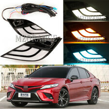 Pair LED DRL Daytime Running Turn Signal Light For Toyota Camry 2018-2019 SE XSE