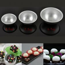 2PCS 3D Aluminum Alloy Ball Sphere Cake Pan Tin Baking Mold Pastry Mould Tools