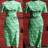 NEW ASOS Floral Printed Midi Dress Size UK 8-18  Length = 46/48""