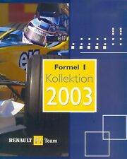 Renault formule 1 collection 2003 prospectus brochure auto voitures autoprospekt Europe