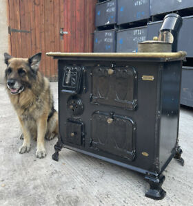 🔥vintage Antique Cast Iron Steel Enamel Cooking Range Stove Multi fuel 🔥