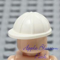 NEW Lego City Minifig WHITE HARD HAT - Construction Worker Cap Head Helmet Gear