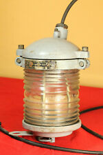 Vintage 1979 Soviet Russian Aluminum SHIP BOAT LANTERN LAMP White light Fresnel