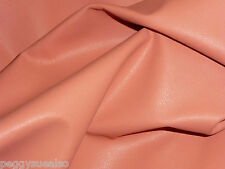 "Leather 8""x10"" Plonge Coral Plonge Thin Cowhide 1.75 oz /.7 mm PeggySueAlso"