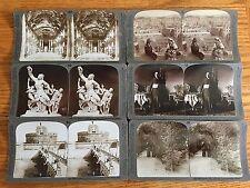 Rome Italy -SIX DIFFERENT VIEWS OF ROME - 6 Keystone Stereoviews