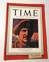 Vintage Time Magazine February 1 1943 Back Issue Eighth Army's Montgomery WWII