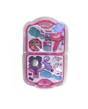 Pretend Vanity Carry Case Brush Girls Fashion Hair Styling Play Set Toy Mirror