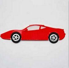 3 Rojo Ferrari Coche dado corta PARA TARJETAS O MANUALIDADES