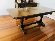1900's Antique Dining Table Carved Vintage Excellent Condition