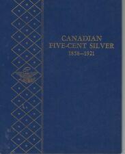 Canadian Five Cent Silver1858-1921 Whitman Album  NOS  NO COINS