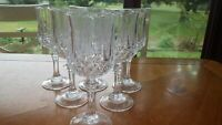 Longchamp Wine Glasses Cristal D'Arques 6 6 ounce elegant stem wine glasses