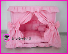 Princess Pet Dog Cat Handmade Bed House Pink Color Size Small