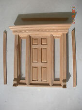 Dollhouse Miniature One Inch Scale Door W/ Sidelites And Lots Of Detail