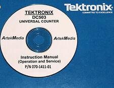 Tek Tektronix Dc503 Counter, Operating + Service + Schemtics Manual