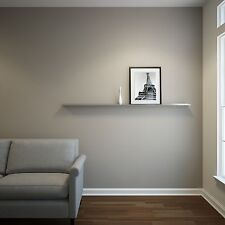EXTRA-DEEP 6ft Stainless Steel Floating Ledge for Photos and Pictures,Wall Shelf